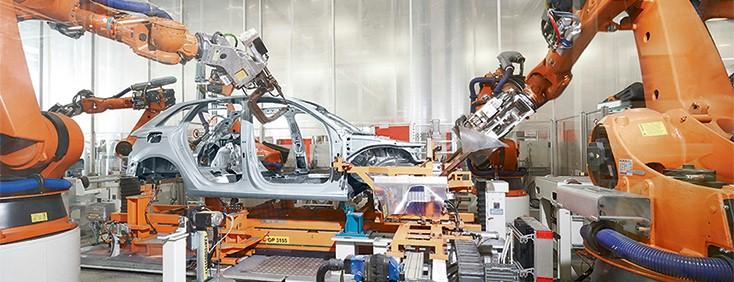 Przy produkcji nadwozi, Audi w pełni polega na rozwiązaniach firmy Bosch Rexroth z zakresu wkrętarek i technologii zgrzewania oporowego