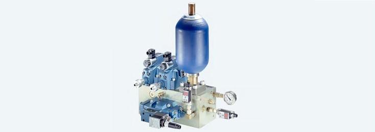 Accumulator charging circuits for cutting machine tools