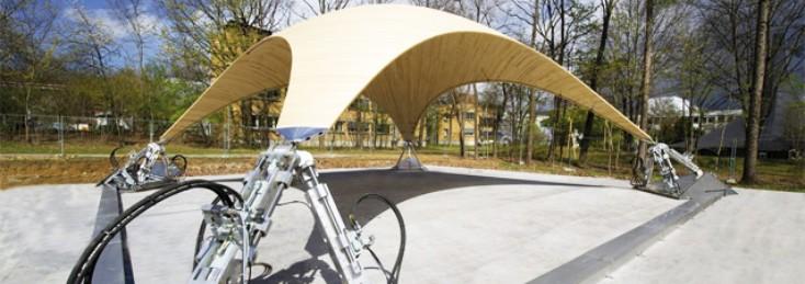 University of Stuttgart light weight construction with Rexroth hydraulics