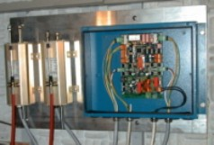 Actuators and control unit on board the test ship