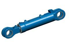 Large hydraulic hull door cylinder