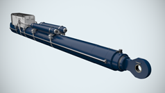 Electro-hydraulic cylinders for ship locks and bridges