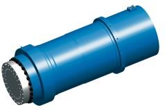 Large hydraulic forging press cylinder