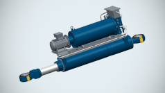 Electro-hydraulic cylinders for dredging vessels