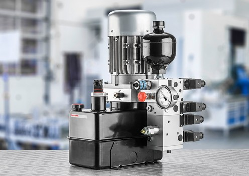 Energy efficient hydraulic power units from Bosch Rexroth Energy saving power units for industry from Bosch Rexroth
