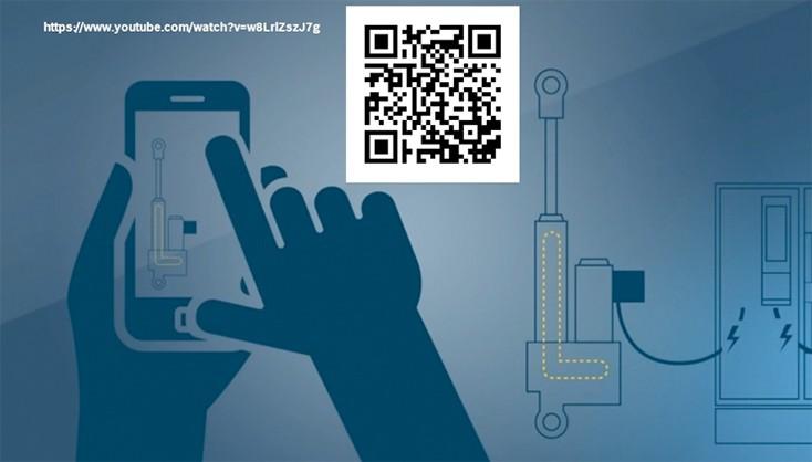 QR code Electrification digitalization hydraulics