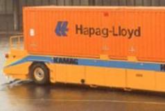 System transportu kontenerów bez kierowcy AGV