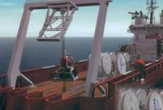 Statek morski do układania kabli telekomunikacyjnych