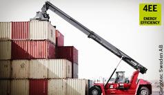 Przekładnia hydrostatyczna firmy Bosch Rexroth optymalizująca pracę kontenerowego wózka widłowego Gloria firmy Kalmar